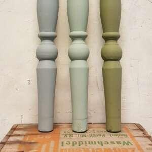 Kreidefarbe verschiedenen Farben Oliven grun