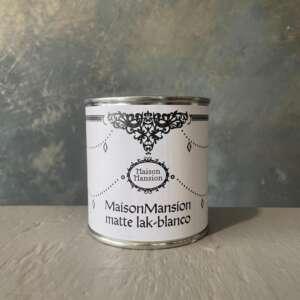 Mattlack Blanco 500ML MaisonMansion ergibt eine matte, nicht sichtbare Schutzschicht. Geeignet für unbearbeitetem Holz.