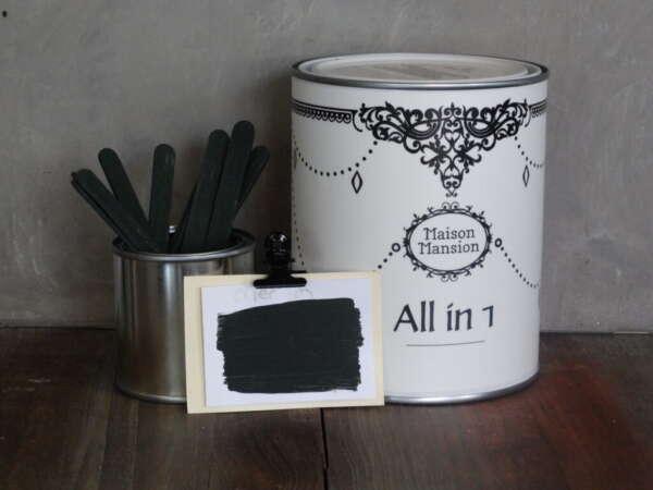 All In 1 Farbe Für Mauerb und Möbeln Merlin Alt Grün