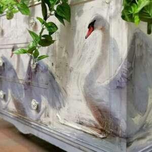 White Swan Decoupage
